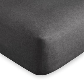 Dorma Supreme Brushed Cotton Charcoal Fitted Sheet