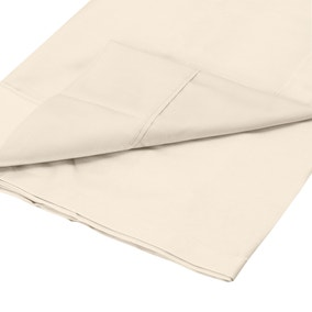 Dorma Plain Dye 350 Thread Count Cream Flat Sheet