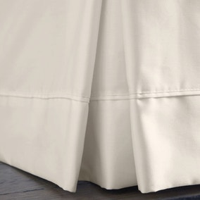 Dorma Plain Dye 350 Thread Count Cream Valance