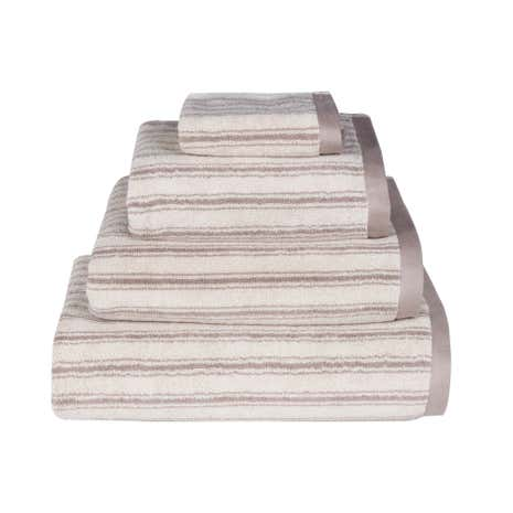 Emily Bond Natural Ticking Stripe Cotton Towel