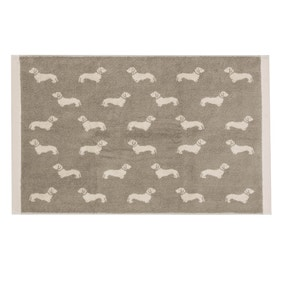 Emily Bond Natural Dachshund Cotton Bath Mat