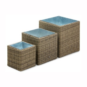 Maze Rattan Winchester Set Of 3 Square Planters. Loz_exclusively_online