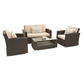 Maze Rattan Kingston Brown 4 Seat Sofa Set