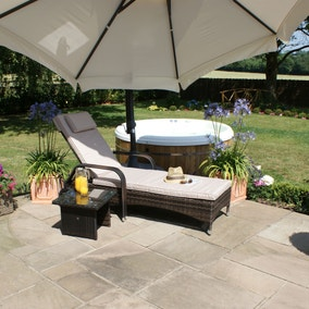 Maze Rattan Florida Brown Sun Lounger  sc 1 st  Dunelm & Garden Chairs u0026 Loungers | Patio Chairs | Dunelm islam-shia.org