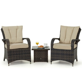 Maze Rattan Texas Brown 2 Seat Lounge Set