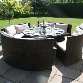 maze rattan dallas brown 8 seat sofa set loz_exclusively_online - Garden Furniture Table And Chairs