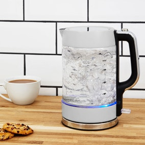 Dunelm 1.7L Grey Glass Jug Kettle
