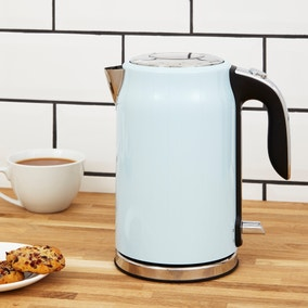 Dunelm 1.7L Duck Egg Blue Kettle