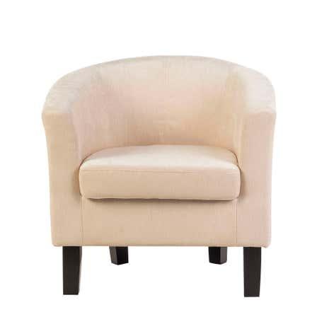 Merrion Ivory Tub Chair | Dunelm