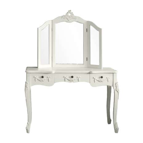 Toulouse White Large Dressing Table And Mirror Dunelm - Toulouse bedroom furniture white