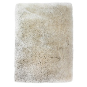 Extra Large Ivory Jewel Shaggy Rug