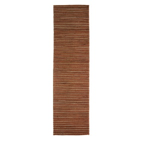 Terracotta Stripe Jute Runner