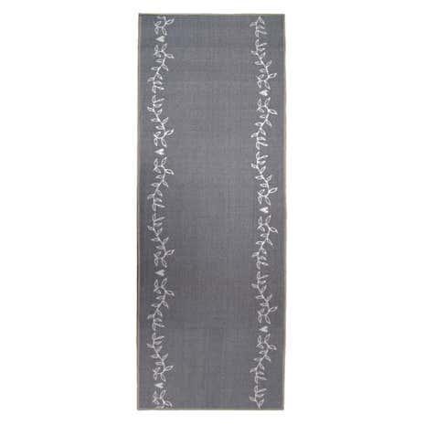 grey leaf washable runner dunelm. Black Bedroom Furniture Sets. Home Design Ideas