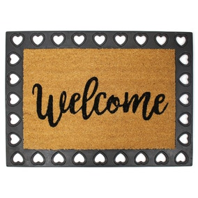 Heart Border Welcome Mat
