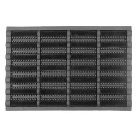 Black Boot Scraper Mat