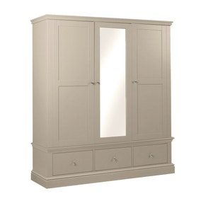 Blakely Taupe Triple Wardrobe