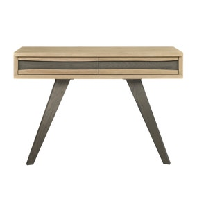 Cadell Aged Oak 2 Drawer Console Table