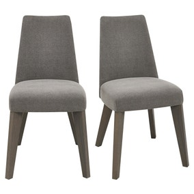 Cadell Grey Upholstered Pair of Dining Chairs