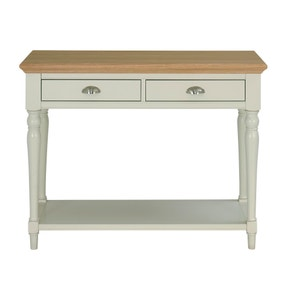 Eaton Soft Grey Turned Leg Console Table