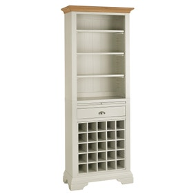 Eaton Soft Grey Tall Wine Rack