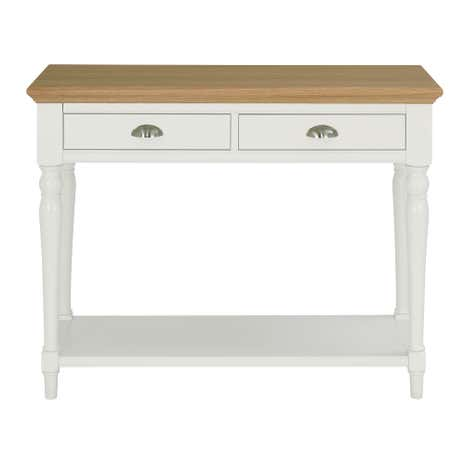 Eaton two tone turned leg console table dunelm - Dunelm console table ...