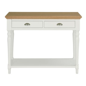 Eaton Two Tone Turned Leg Console Table