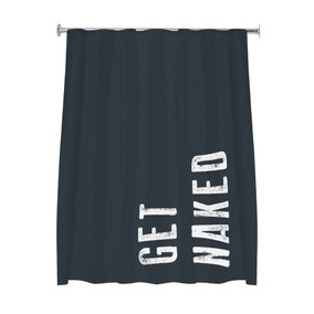 Charcoal Get Naked Shower Curtain