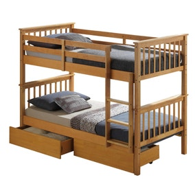 Aritsan Beech Bunk Bed with Underbed Drawers
