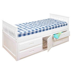 Captains White Storage Bedstead