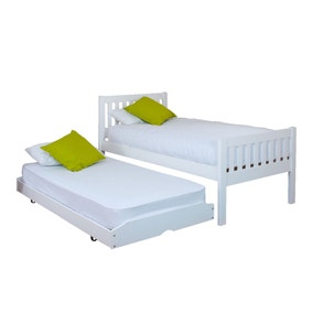 Lena White Wooden Guest Bed