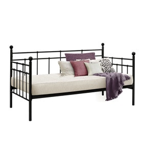 Lyon Black Day Bed with Trundle