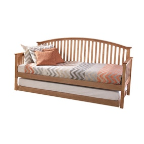 Madrid Oak Wooden Day Bed with Trundle