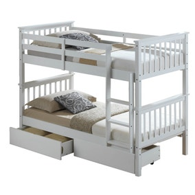 Artisan White Bunk Bed with Underbed Drawers