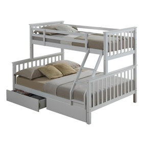 Artisan White Triple Sleeper with Underbed Drawer