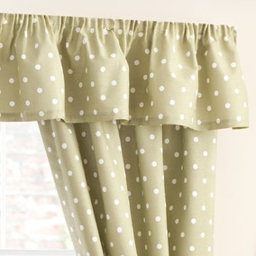 Kitchen Sage Dotty Pelmet