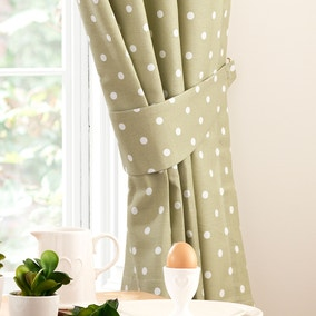 Kitchen Sage Dotty Tiebacks