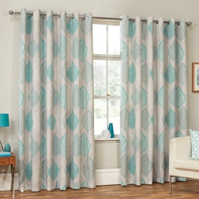 Ashdown Duck Egg Eyelet Curtains