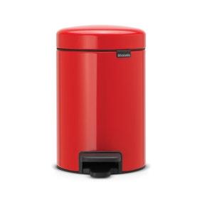 Bathroom bins small pedal bins dunelm for Red bathroom bin