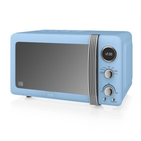 Swan 800W 20L Blue Digital Microwave