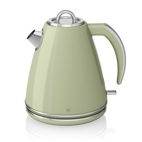Swan Retro 1.5L Green Jug Kettle