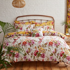 Eliana Yellow Duvet Cover and Pillowcase Set