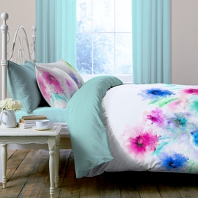 Leilani Digitally Printed 100% Cotton Duvet Cover and Pillowcase Set