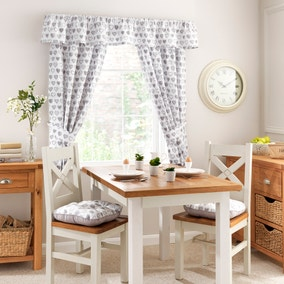Kitchen Country Hearts Pencil Pleat Curtains