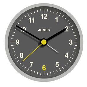 Jones Tibbet Grey Alarm Clock