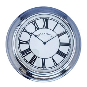 5A Fifth Avenue Hammered Metal Clock