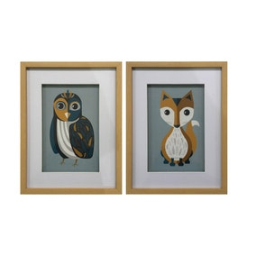 Elements Set of 2 Animal Framed Prints