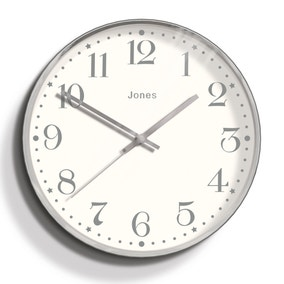 Jones Penny Chrome Clock