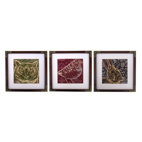 Keepers Lodge Set of 3 Woodland Framed Prints