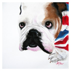 Reggie Bulldog Canvas