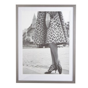 5A Fifth Avenue Dior Leopard Framed Print